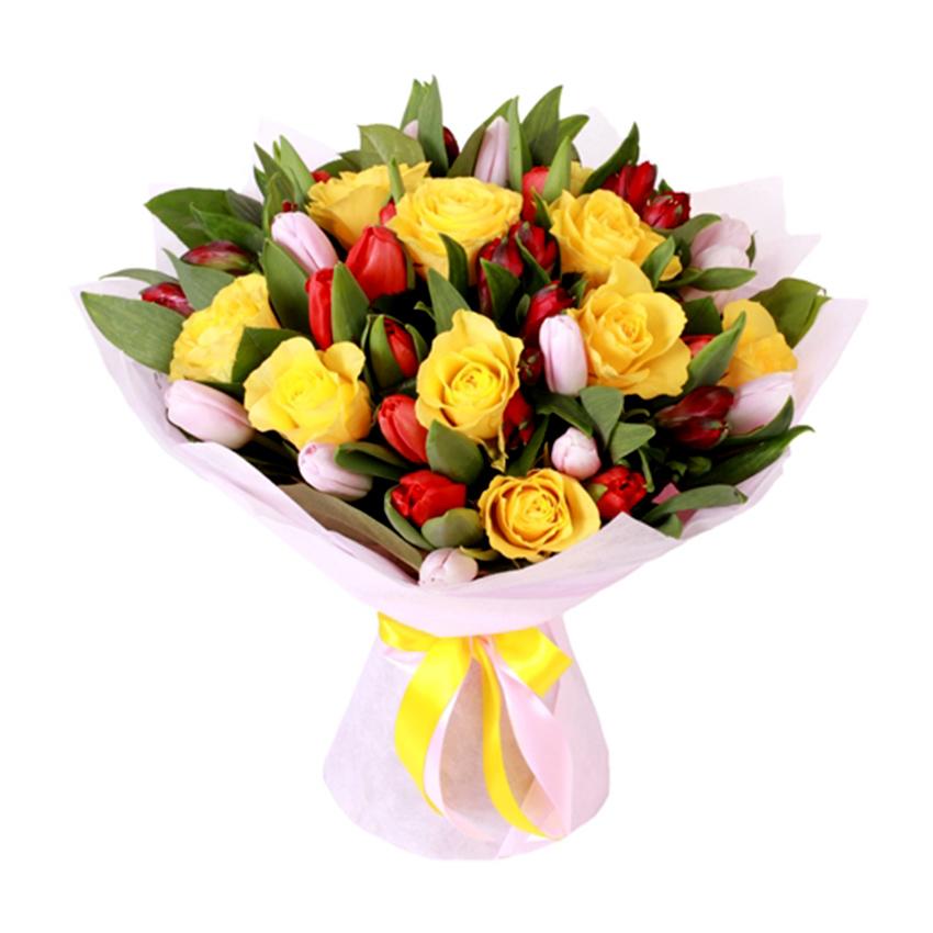 хочется букеты из роз и тюльпанов картинки фото равномерно распределяется всей